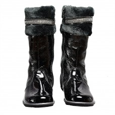 Andanines - Black Patent Boots
