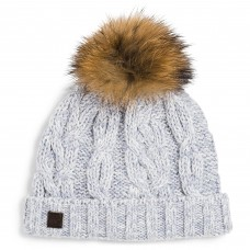 Tartine Et Chocolat - Blue Glacier Cable Knit Wool Hat