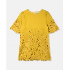 Stella McCartney Kids - Girls 'Harper' Yellow Embroidery Dress