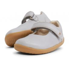 Bobux - Baby Girls Silver Shimmer 'Delight' Mary Jane Shoes