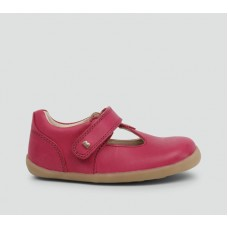 Bobux - Girls 'Louise' Dark Pink T.Bar Shoe