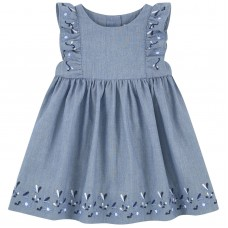 Tartine et Chocolat - Chambray Pinafore Dress