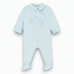 Tartine et Chocolat - Pale Blue Alphabet Babygrow