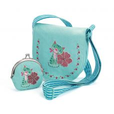 Djeco - Embroidered 'Kitten' Bag & Purse