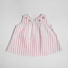 Floc BABY - Baby Girls Pink Stripes Sleeveless Dress