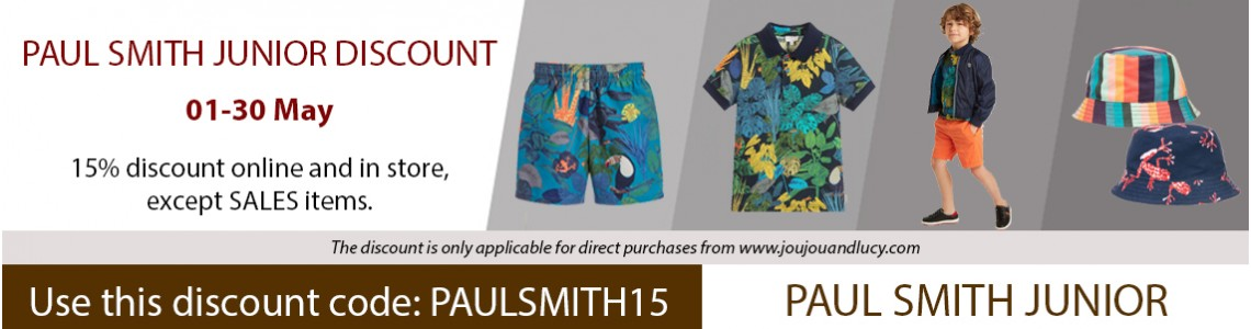 PAUL SMITH JUNIOR - 15% OFF
