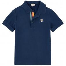 Paul Smith Junior - Baby Boys Navy Blue 'Rock' Polo T.Shirt