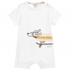 Paul Smith Junior - Baby Boys White 'Robertson' Shortie