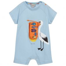 Paul Smith Junior - Baby Boys Sky Blue 'Tewis' all In One Shortie
