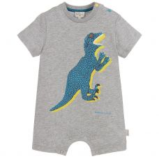 Paul Smith Junior - Baby Boys Marl Grey 'Toufik' all In One Shortie