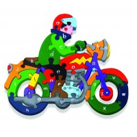 Alphabet Jigsaws - Motorbike
