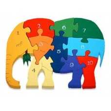 Alphabet Jigsaws - Number Elephant