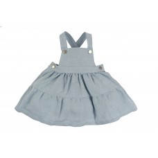 Laranjinha - Stone Blue Pinafore Dress