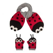 Stella McCartney Kids - Baby Girls 'Elvira & Snappy' Scarf & Mittens Set