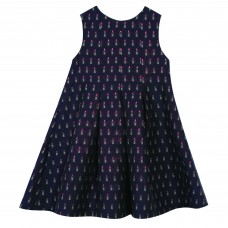 Tartine Et Chocolat Navy Lipstick Jacquard Dress