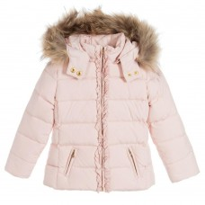 Tartine Et Chocolat Misty Rose Down Padded Coat