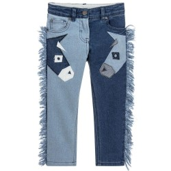 Stella McCartney Kids - Girls 'Lohan' Denim Trousers