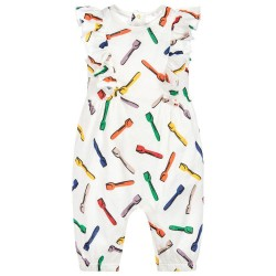 Stella McCartney Kids - Baby Girls Ice Cream Spoon Print 'Aurelia' Playsuit