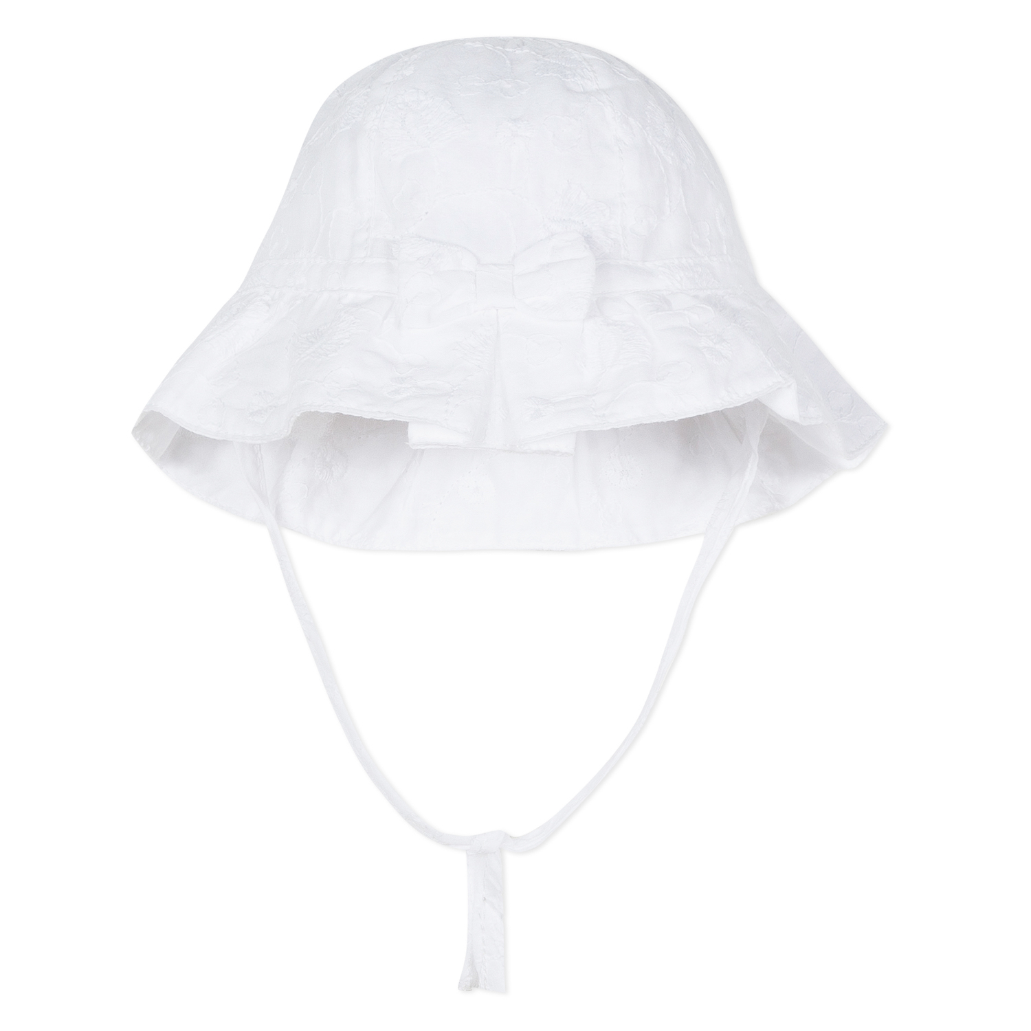 Absorba - Baby Girls White Cotton Sun Hat 1442eca789b9