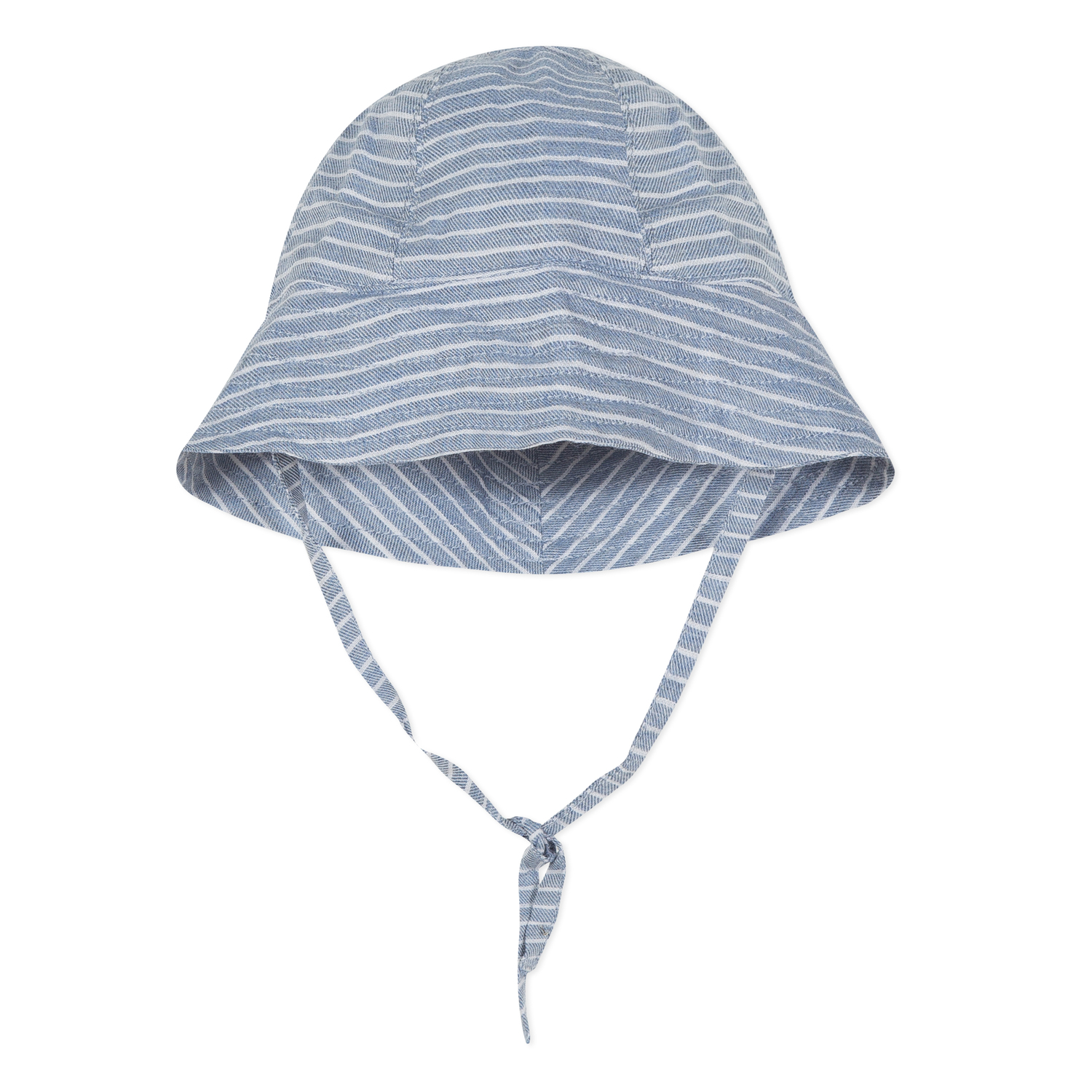 Absorba - Baby Boys Blue Striped Cotton Chambray Sun Hat d4eb540e93bc